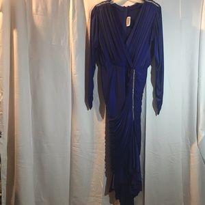 Susan Roselli Hi-Lo Rhinestone Dinner Dress